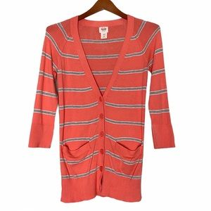 Mossimo button down cardigan sweater coral x small